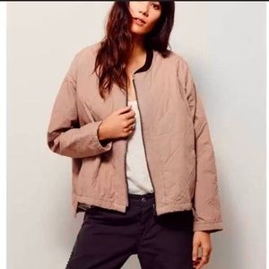 Free People quilted bomber jacket